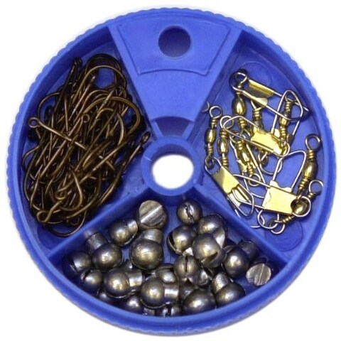 Eagle Claw Sinkers, Hooks and Swivels Assorted Pack