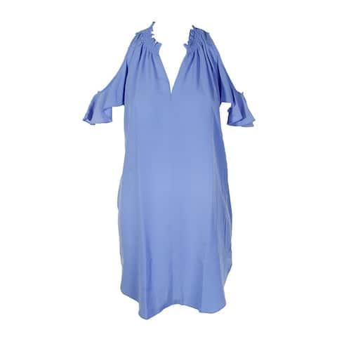 Rachel Rachel Roy Navy Cold-Shoulder Shift Dress S