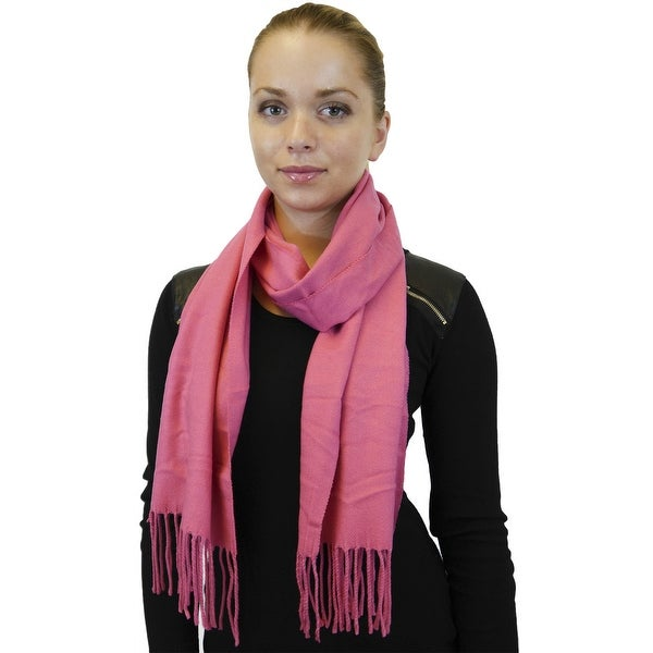 Winter or Fall Cold Weather Solid Color Long Cashmere Feel Scarf, Many Colors