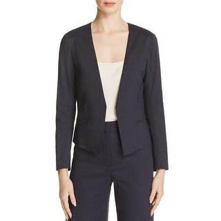 Theory Womens Benefield Blazer Textured Open Front