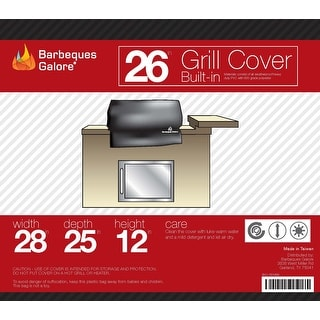 "Barbeques Galore 26"" Grill Cover for Built-In Gas Grill"