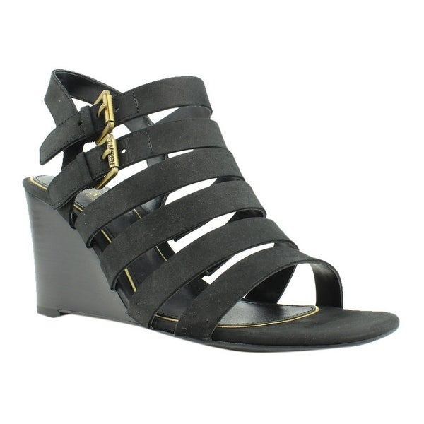 d98ca09b6f6 Shop Lauren Ralph Lauren Womens Black Strap Sandals Size 7.5 New - On Sale  - Free Shipping On Orders Over  45 - Overstock - 23008446