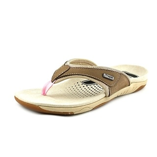 Propet Hartley Open Toe Leather Thong Sandal