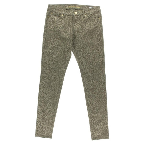 45ebc9467147 Shop MICHAEL Michael Kors Womens Skinny Jeans Denim Leopard Print - 2 -  Free Shipping Today - Overstock.com - 18418864
