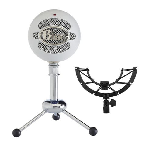 Blue Microphones Snowball USB Mic (Textured White) with Shock Mount