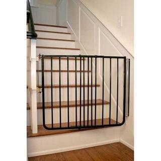 """Cardinal Gates Stairway Special Hardware Mounted Pet Gate Black 27"""" - 42.5"""" x 1.5"""" x 29.5"""""""