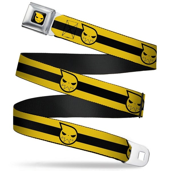 Soul Eater Logo Full Color Black Yellow Soul Eater Logo Stripe Yellow Black Seatbelt Belt