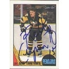 Randy Cunneyworth Pittsburgh Penguins 1987 Opee Chee Autographed Card This item comes with a certi