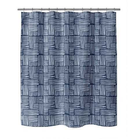 RAILS BEIGE Shower Curtain By Kavka Designs