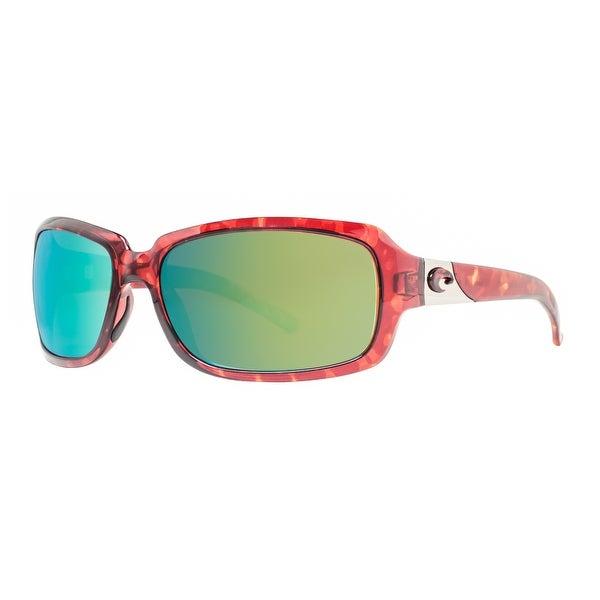 791c2ae4e2 Costa Del Mar Isabela IB10OGMP Tortoise Brown 580P Green Mirror Wrap  Sunglasses - tortoise brown -. Click to Zoom