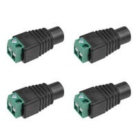 4Pcs Female 5.5x2.1mm DC Power Jack Adapter Connector for CCTV Security Camera - dc female 4pcs - dc female 4pcs
