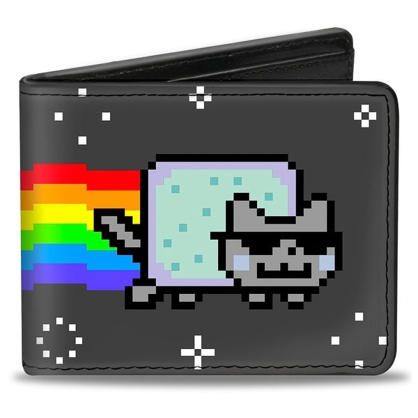 Cool Jazz Nyan Cat Black Bi Fold Wallet - One Size Fits most