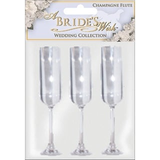 """Champagne Flutes 5"""" 3/Pkg-Clear Acrylic - Clear"""