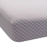 Lambs & Ivy Bunny Collection Lattice 100% Cotton Sateen Fitted Crib Sheet