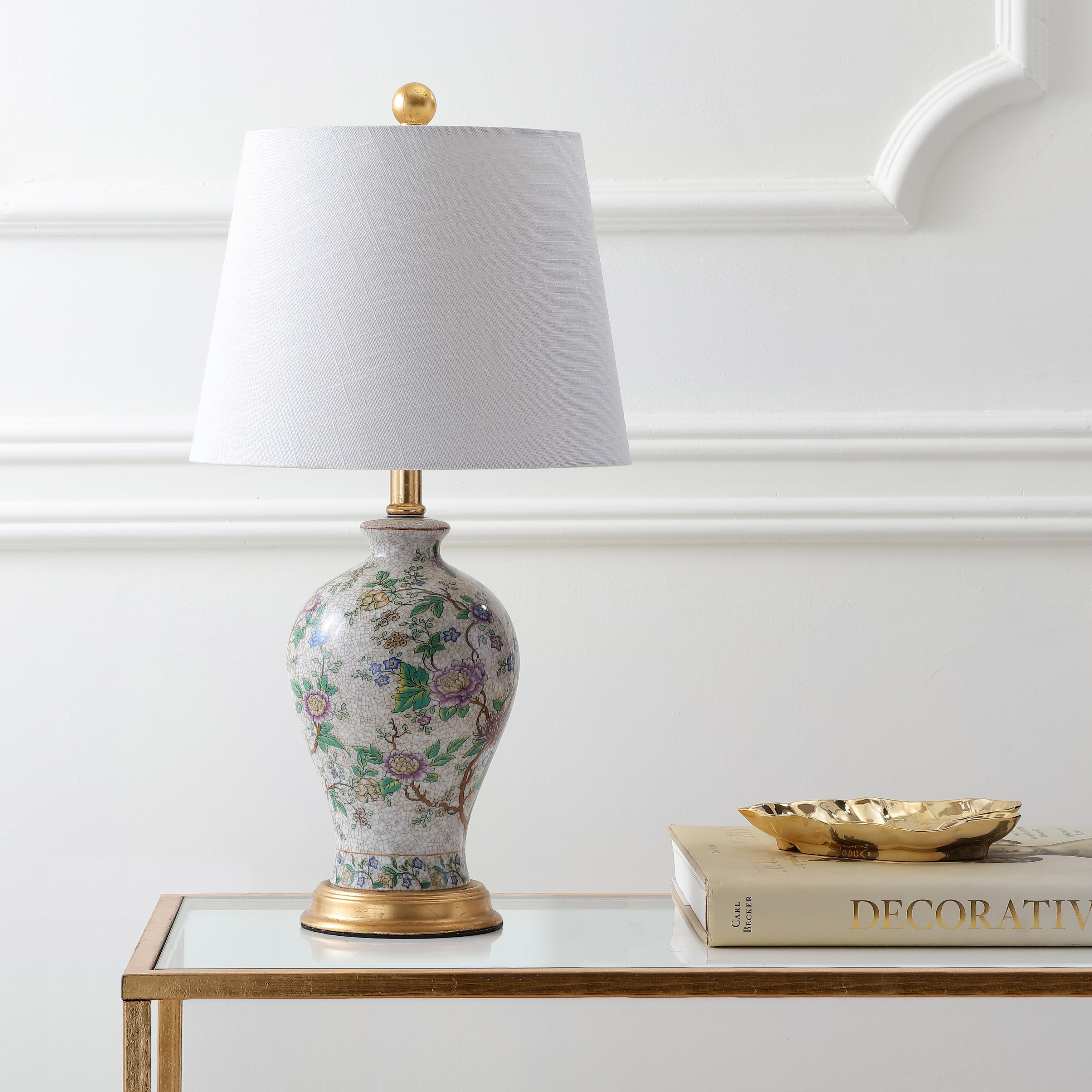 Grace 24 Floral Led Table Lamp By Jonathan Y 24 Overstock 20176190
