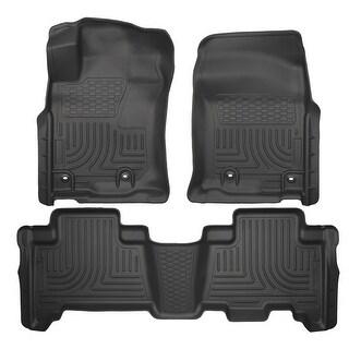 Husky Weatherbeater 2014-2016 Lexus GX460 Standard Cargo Area Black Front & Rear Floor Mats/Liners