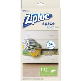 Ziploc 2Ct 2Xl Flat Space Bag