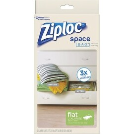 Ziploc 2Ct 2Xl Flat Space Bag