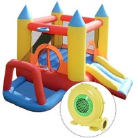 8225ae54083 Costway Inflatable Mighty Bounce House Jumper Castle Moonwalk Slide w 480W  Blower - as pic