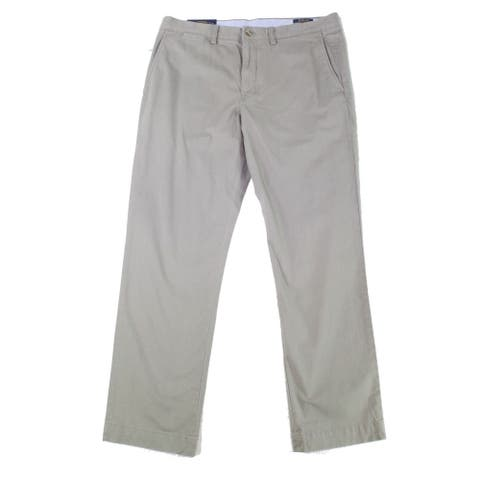 Polo Ralph Lauren Mens Pants Gray Size 42x30 Twill Straight Stretch