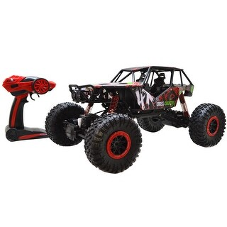 Costway 1/10 Scale 2.4Ghz 4 Wheel Drive Rock Crawler Radio Remote Control RC Car Red