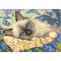 """Gold Petite Charming Counted Cross Stitch Kit-7""""X5"""" 18 Count"""