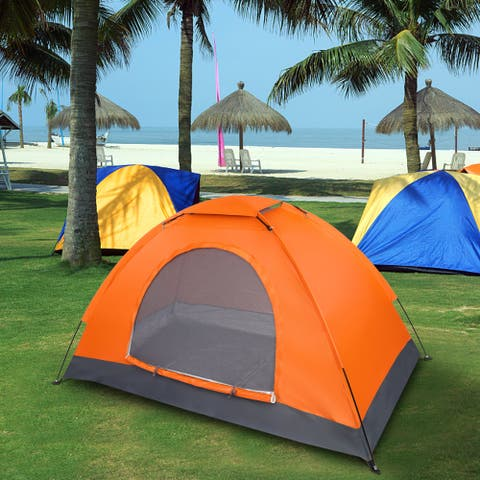 1-Person Waterproof Camping Dome Tent Automatic Pop Up Quick Shelter