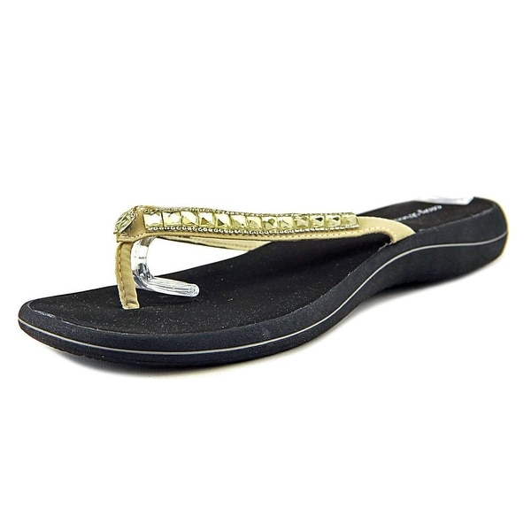 Easy Street Token Women W Open Toe Canvas Ivory Thong Sandal