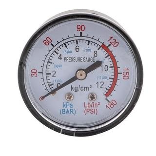 1/4 BSP 0-12 kg/cm2 0-180 PSI Male Threaded Round Dial Air Pressure Gauge