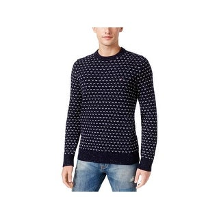 Tommy Hilfiger Mens Big & Tall Crewneck Sweater Wool Pattern