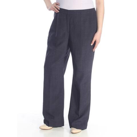 LE SUIT Womens Purple Straight leg Wear to Work Pants Size 16