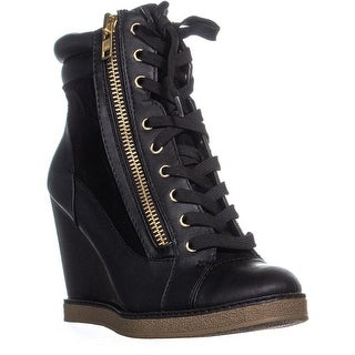 Report Fife Wedge Ankle Boots, Black