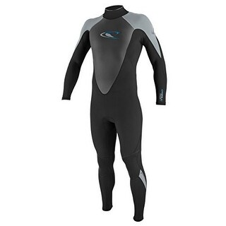 Oneill Mens 3/2 Hammer Full Wetsuit, Black/Dusty Blue, Medium