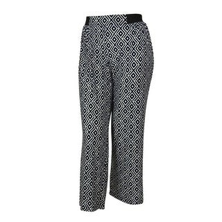 INC International Concepts Women's Patterned Stretch Fabric Pants