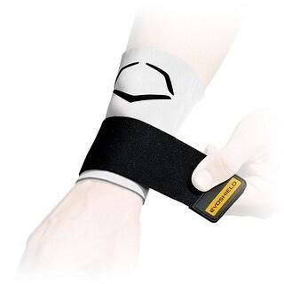 EvoShield MLB Protective Wrist Sleeve w/ Strap (White/Size XL)