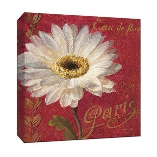 """PTM Images 9-152430  PTM Canvas Collection 12"""" x 12"""" - """"Paris Blossom I"""" Giclee Flowers Textual Art Print on Canvas"""