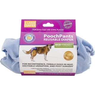 56 To 90Lbs - Poochpants Reusable Dog Diaper-X-Large