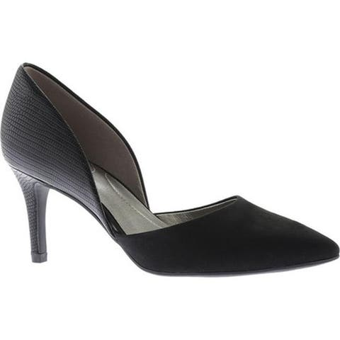 ff6af1c02a Bandolino Women's Grenow D'Orsay Pump Black Faux Suede/Synthetic Reptile