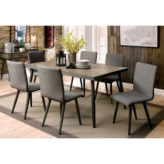 Furniture of America Macon 7-piece Dining Table Set