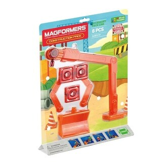 Magformers 8-Piece Construction Accessory Pack, Orange/Red - Multi