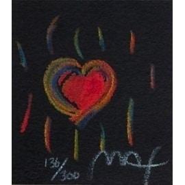 "Heart Suite III #II, Ltd Ed Litho (Mini 2.75"" x 2.5""), Peter Max"