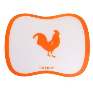 Plastic Flexible Bendable Slicing Dicing Cutting Chopping Board Mat Orange