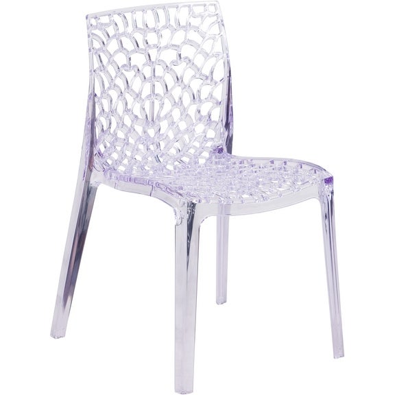 Shop Asbury Transparent Clear Ghost Stacking Side Chair Artistic Fluid  Design   Free Shipping Today   Overstock   16626435