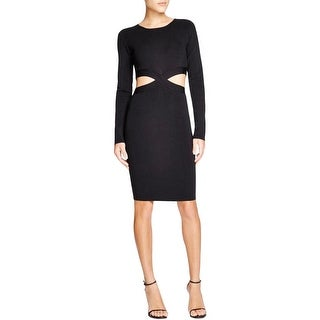 Lucy Paris Womens Party Dress Ribbed Knit Long Sleeves