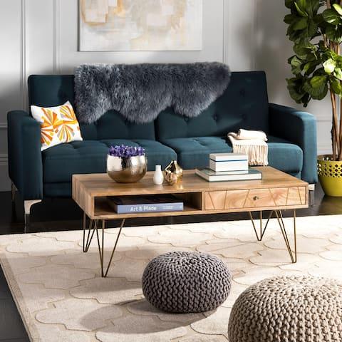 """SAFAVIEH Marigold 1-Drawer 1-Shelf Living Room Coffee Table - 43"""" W x 21.6"""" L x 16"""" H"""
