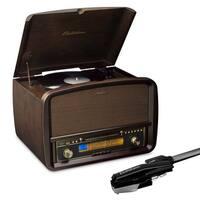 Electrohome Signature Vinyl Record Player Classic Turntable Hi-Fi Stereo System & 2 Bonus Replacement Needles