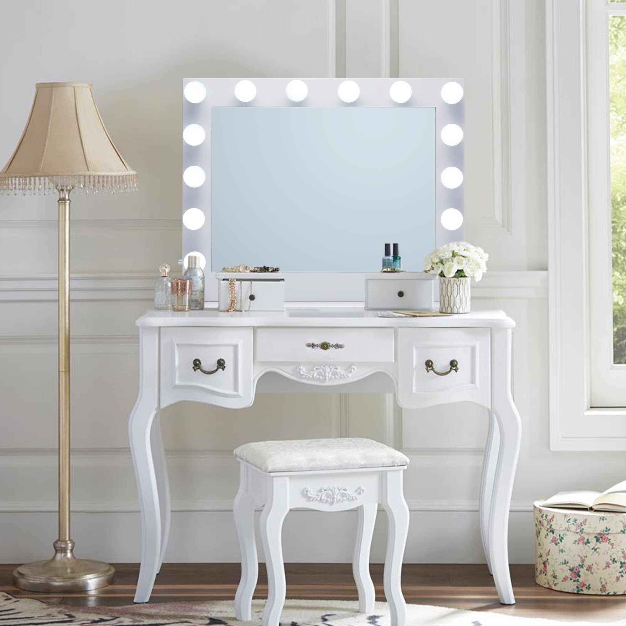 Led Lighted Hollywood Makeup Mirror