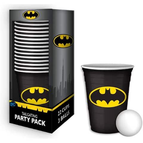 DC Comics Batman Logo 18oz Disposable Plastic Cups