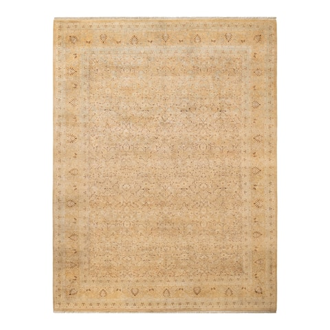"""Mogul, One-of-a-Kind Hand-Knotted Area Rug - Yellow, 7' 10"""" x 10' 2"""" - 7' 10"""" x 10' 2"""""""