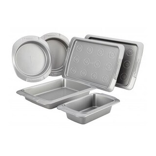 Cake Boss 55071 Deluxe Nonstick Bakeware 6-Piece Set - gray